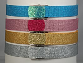 glitter web belts and buckles
