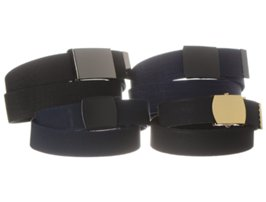 four elastic military web belts
