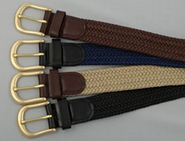 brass buckle premium stretch belts
