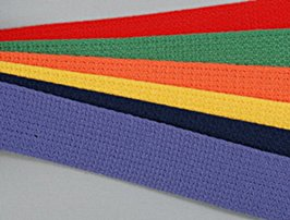 rainbow of solid color webbing