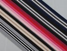 selection of striped webbing rolls